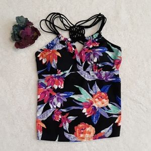 St. John's Bay Floral Halter Tankini Swimsuit Top